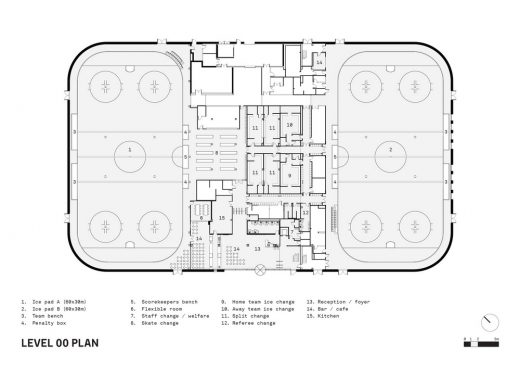 Lee Valley Ice Centre London ground floor plan