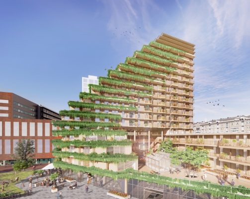 SAWA Lloydquarter wooden building design