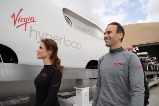 Virgin Hyperloop Trials first passengers ride
