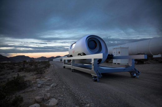 Virgin Hyperloop Pegasus Pod Nevada USA