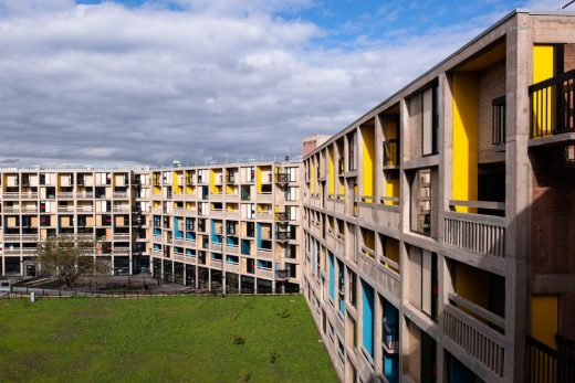 Brutalist Béton House student accommodation Sheffield