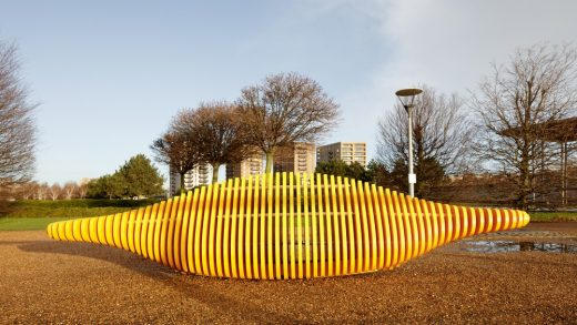 Royal Docks London Rocking Bench by Duncan Graham