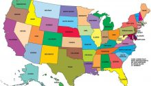US map United States of America