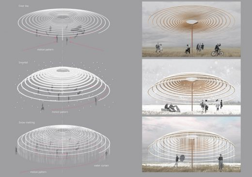 Winter Pavilion London Competition 2nd prize