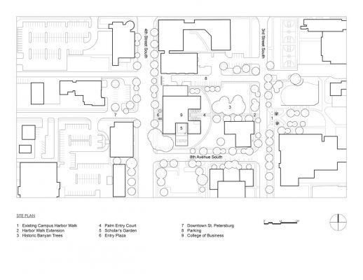 Muma College of Business USF, University of South Florida site plan