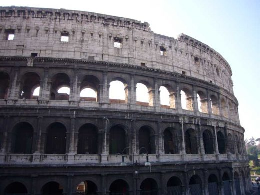 Colosseum Building Rome Italy