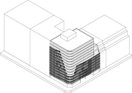 Dome Business Plaza Buenos Aires building 3D design