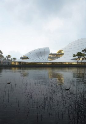Jiaxing Civic Center Design by MAD Architects