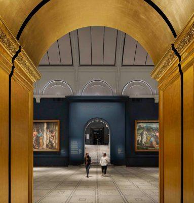 Victoria and Albert Museum Raphael Court London refurbishment
