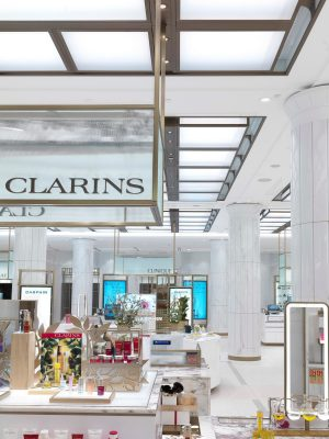 Clarins White Hall Harrods London outlet