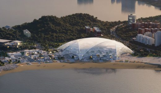 Zhuhai Cultural Arts Center Buildings by MAD