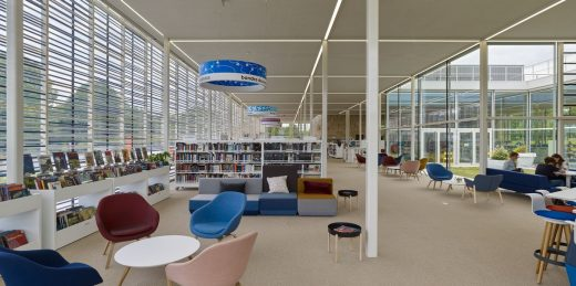Bayeux Media Library Normandy building France interior