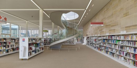 Bayeux Media Library building spiral stairs interior