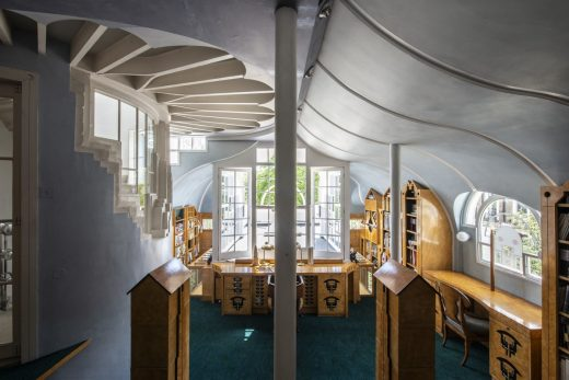 The Cosmic House Holland Park home by Charles Jencks Architectural Library