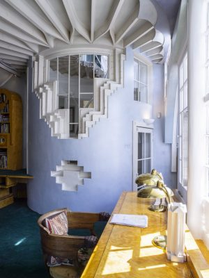 The Cosmic House Holland Park home Architectural Library