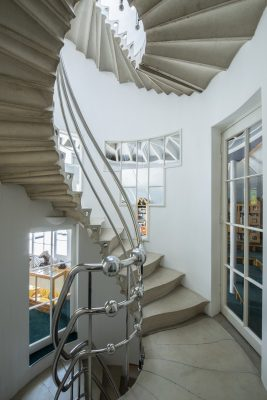 The Cosmic House Holland Park home by Charles Jencks stairs
