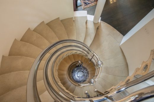 The Cosmic House Holland Park spiral stairs