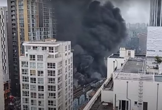 Elephant and Castle fire South London Architecture News