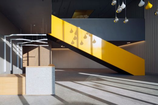 Vimar hub in Marostica, Italy logistics and production stair