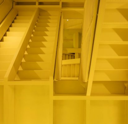 Basque Country office stairs yellow paint