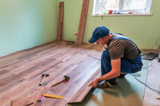 laying a new floor