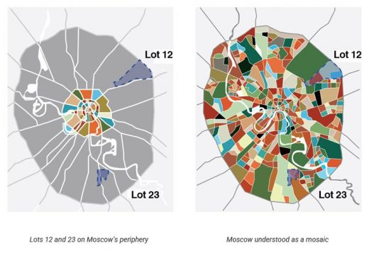 Moscow city plan mosaic Russia