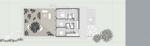 Ananda House by architects Stemmer Rodrigues plan layout