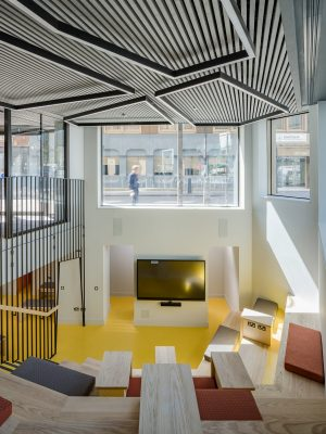 Birkbeck, University of London teaching and learning centre interior design