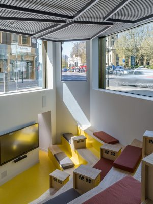 Birkbeck, University of London teaching and learning centre interior