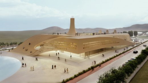 Central Iranian building by highway design