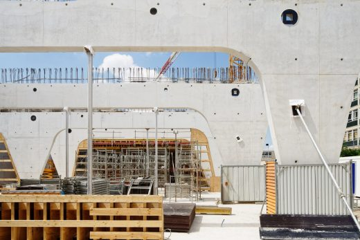 Contemporary International Resource Library Nanterre construction site