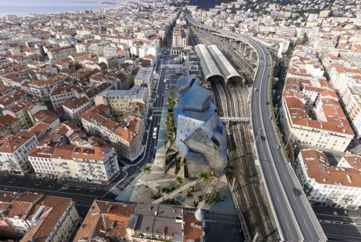 Iconic Nice, Gare Thiers-Est building by Daniel Libeskind