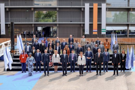 Leaders Group attending the High-Level Dialogue on Climate Adaptation