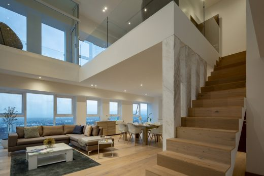 Mexico residential building interior design stairs
