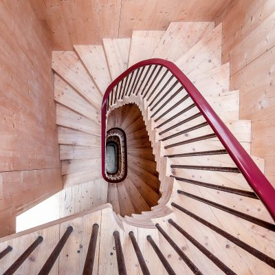 Norfolk Water Tower family home stairs