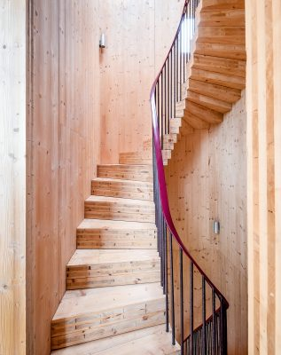 Norfolk Water Tower family house staircase