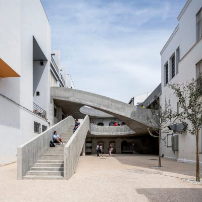 Patio of the Faculty of Fine Arts stairways