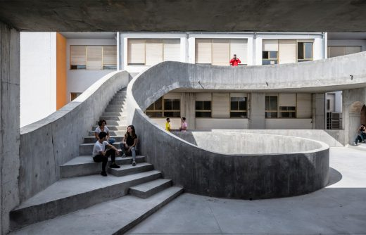 Patio of the Faculty of Fine Arts stairs