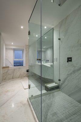 Mexican bathroom glass interior design