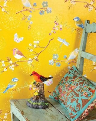 What impact have choice of colours in interior design yellow