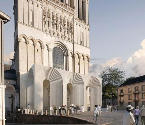 Angers Cathedral Arched Portals by Kengo Kuma architect